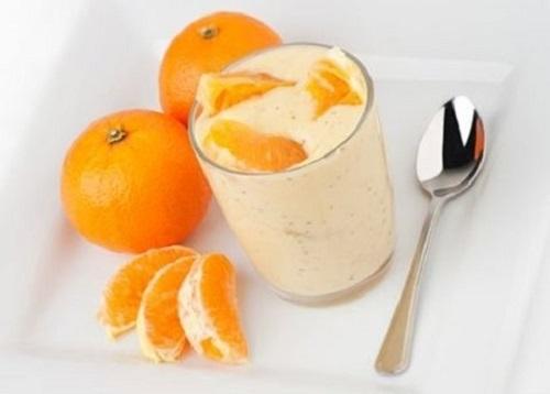 Sinh tế cam, sữa chua