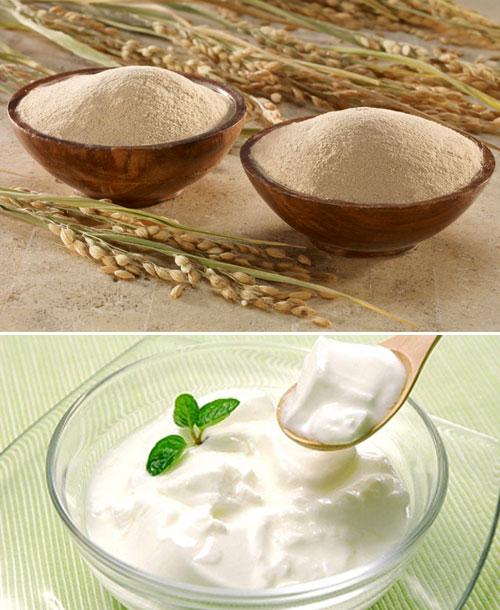 Kết quả hình ảnh cho Hỗn hợp bột gạo + sữa chua